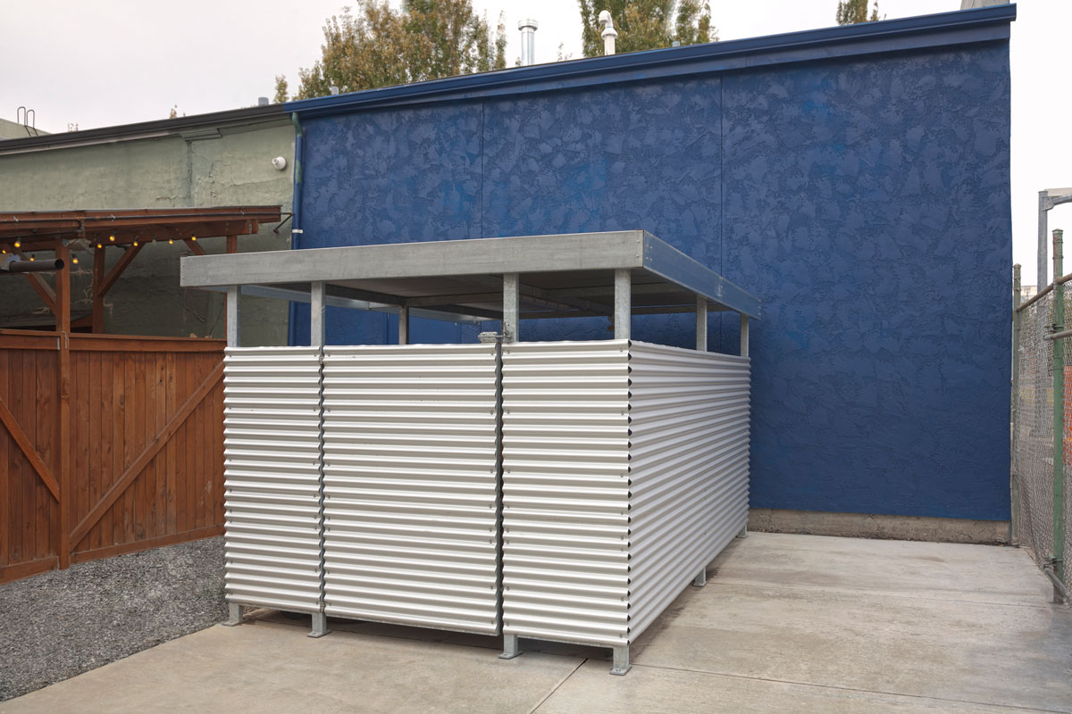 Mini Trash Enclosure Designed And Fabricated By Deform